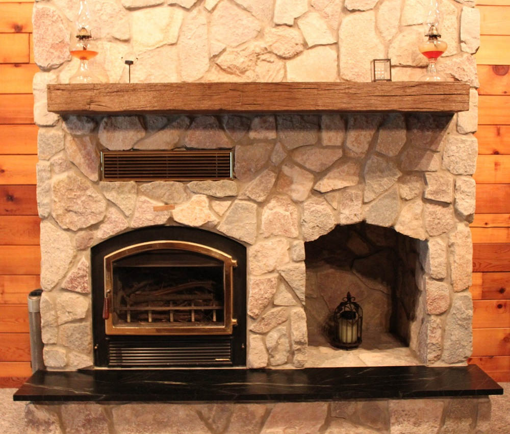 Reclaimed wood mantles antique beams and boards - Fireplace mantel piece ...