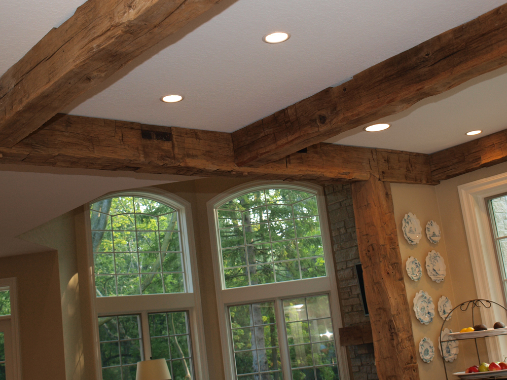 reclaimed hand hewn beams