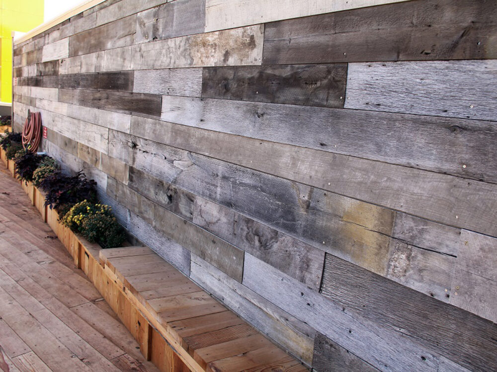 weathered gray barn siding