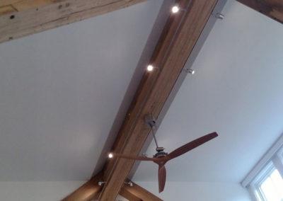 reclaimed and resawn wood ceiling beams