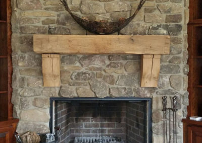 smooth hand hewn mantle decorative stone