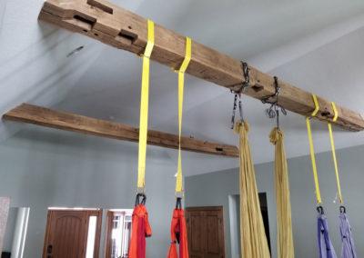 reclaimed hand hewn wood ceiling beams